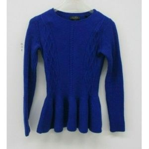 Ted Baker Womens Sweater Cable Knit Peplum